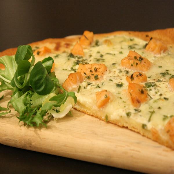 Les pizzas à base de crème fraîche d'Isigny